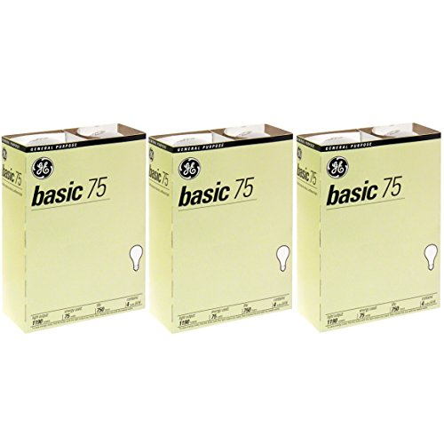GE 41030 12 75 Watt Basic 12 Pack