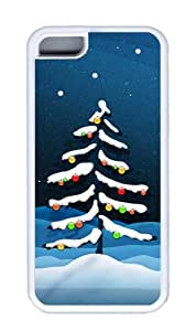 Customized Case Xmas Fall Tree White for Apple iPhone 5C