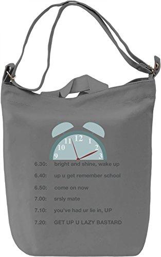 Alarm Borsa Giornaliera Canvas Canvas Day Bag| 100% Premium Cotton Canvas| DTG Printing|