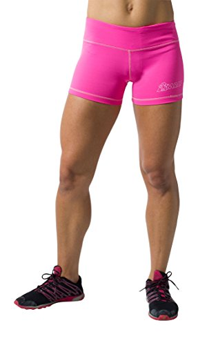 Amrap Women's Retro Hot Shorts for Crossfit WOD Small Pink