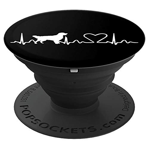 - Cute Golden Retriever heartbeat - dog lover gift - PopSockets Grip and Stand for Phones and Tablets