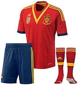 adidas Conjunto Jr España 13-14 Rojo Talla 176: Amazon.es: Deportes y aire libre