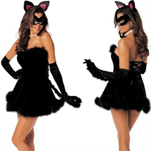 (Shirley of Hollywood Purr Fect Pussycat (Black, M/L))