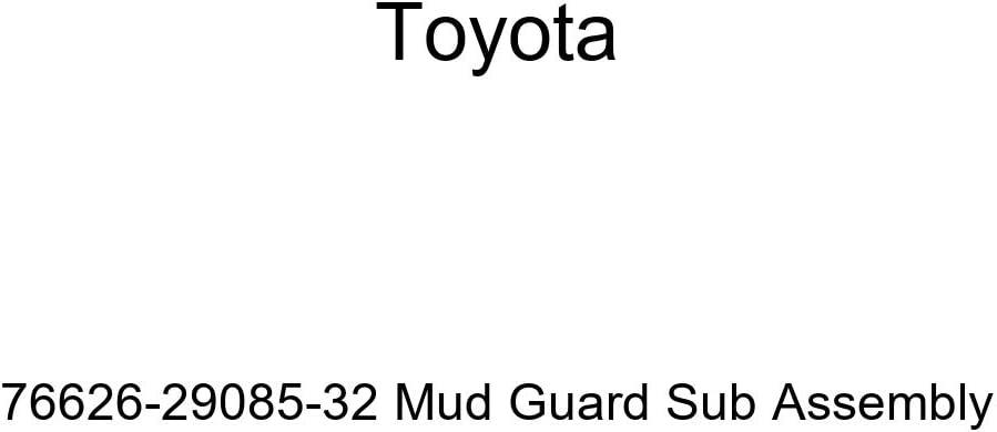 TOYOTA Genuine 76626-29085-32 Mud Guard Sub Assembly