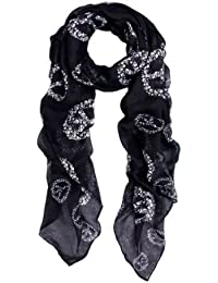 Unique Premium Skull Peace Sign Scarf - Different Colors Available