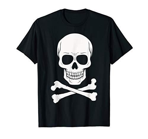 (Human Skull Crossed Bones T-Shirt)