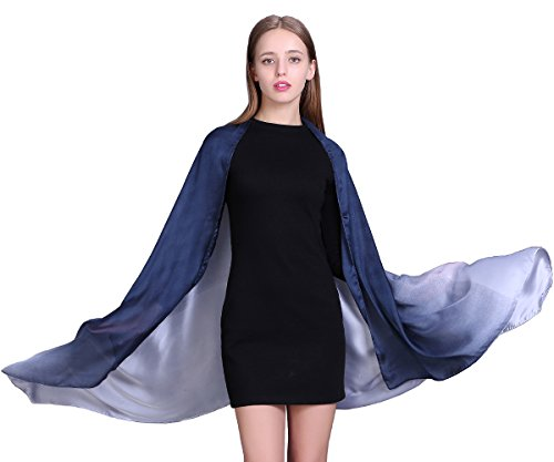 100% Silk Scarf for Women Long Large Lightweight Sunscreen Scarves Gradient Colors Shawl