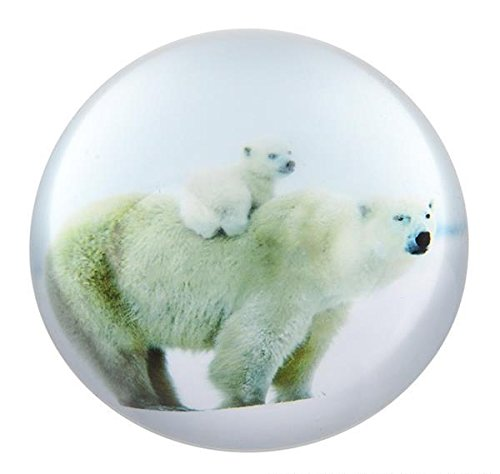 80 MM DOME PAPERWEIGHT POLAR BEAR, Case of 36