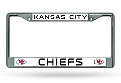 Rico Kansas City Chiefs Chrome License Plate Frame