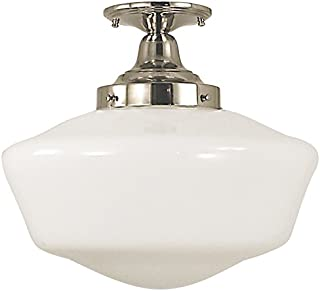 product image for Framburg 2558 PS 1-Light Taylor Flush/Semi-Flush Mount, Polished Silver