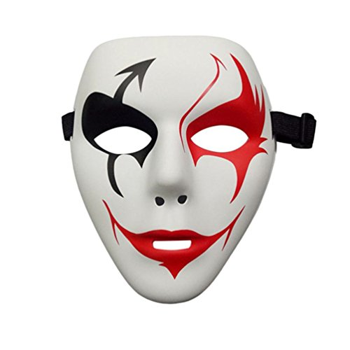 Gooday Hip Pop Halloween Party DIY Scary Masks White Full Face Cosplay Masquerade Mime Mask Ball Party Costume Masks (4 Pcs) (Diy Scary Halloween Masks)