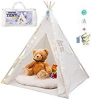 Orian Teepee Tent For Kids - A Fairytale Tipi Tent Kids Love! LED Star Lights, Floor Mat, Dream Catcher, Carry