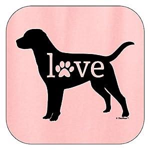 ThisWear Labrador Gifts Labrador Retriever Love Dog Paw Prints Hoodie Sweatshirt 3XL LtPnk