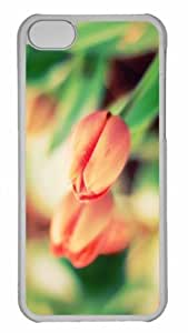 Customized iphone 5C PC Transparent Case - Tulip Macro Personalized Cover by icecream design