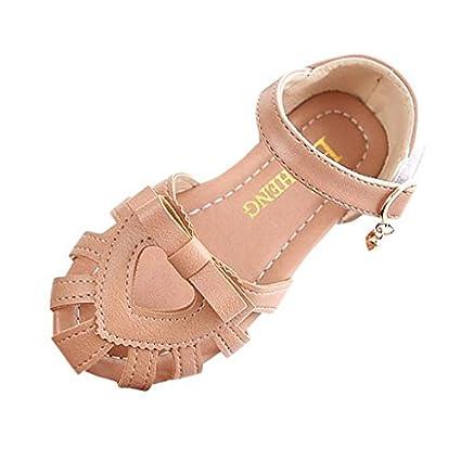 538ecd2971cdb Amazon.com : Morrivoe Baby Girls Children Sandals Bowknot Heart ...