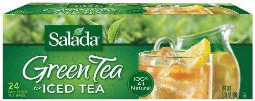 Salada Green Tea For Iced Tea - Family Size 24 Count Tea Bags - 3 - Tea Green Salada