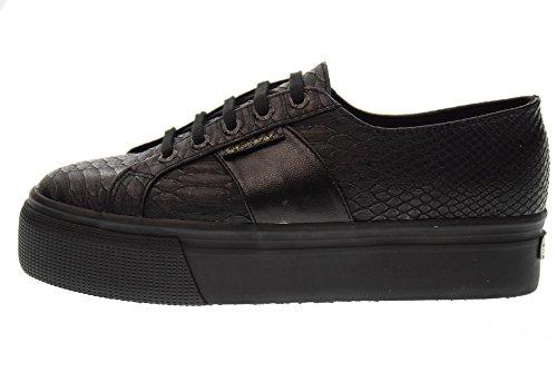 SUPERGA chaussures pour femmes chaussures de sport de plate-forme à faible S00CJZ0 F90 2790 de PUSNAKEW black