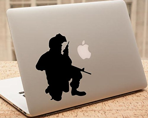 【GINGER掲載商品】 Decal ブラック – Soldier車デカール – MacBook用Soldierミリタリーシルエット – solcd6 6