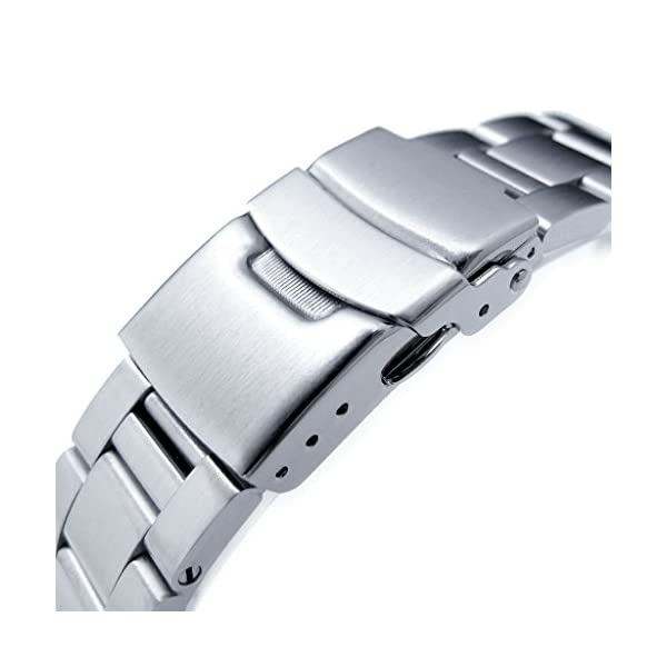 20mm-Super-Oyster-Watch-Band-for-Seiko-Solar-Power-SSC015-316L-SS-Diver-Clasp-Brushed