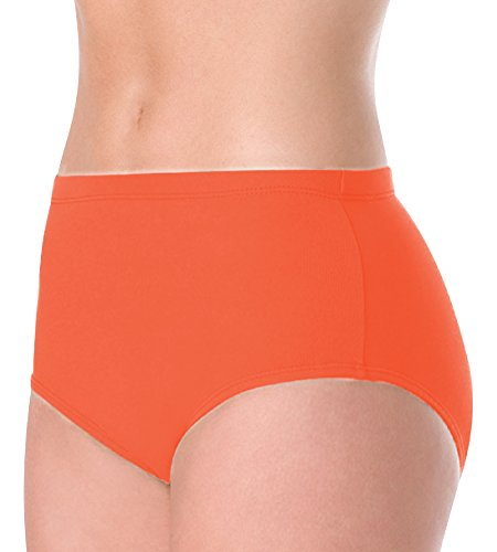 Body Wrappers Big Girls ATHLETIC BRIEF 100 -ORANGE 7-10 ()