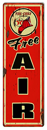 Best Texaco Free Air Distressed Reproduction Motor Oil Metal Sign 6x18