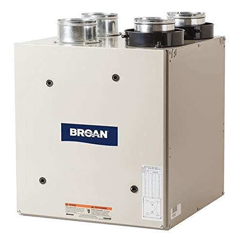 Broan HRV90T 90 CFM Heat Recovery Ventilator with Top Ports