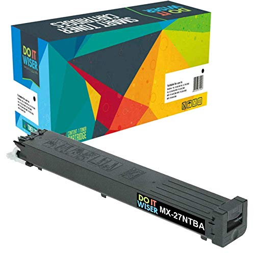 Do it Wiser Compatible Sharp MX-27NTBA Toner for Sharp MX-2300n, MX-2300, MX-2700n, MX-2700, MX-3500, MX-3500n, MX-3501, MX-4501n Printers - Black
