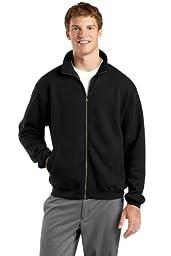 Sport-Tek F259 Full-Zip Sweatshirt - Black - 3XL