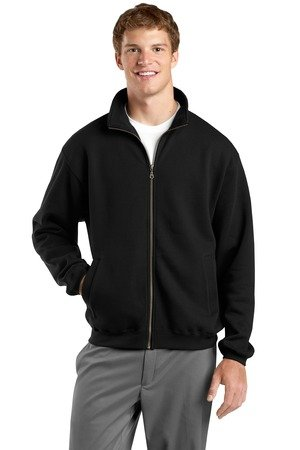 Sport-Tek ST259 Full-Zip Sweatshirt, Black Medium