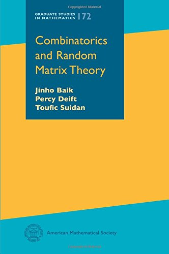 Combinatorics and Random Matrix Theory (Graduate Studies in Mathematics)