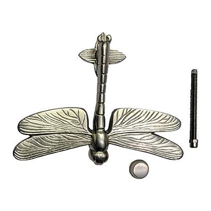 Casa Hardware Brass Dragonfly Door Knocker in Brushed Nickel Finish