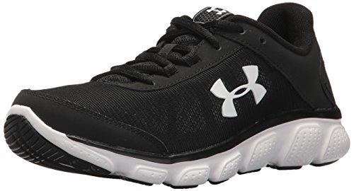 Under Armour Womens Micro G Assert 7 Running Shoe Black (001)/White 7.5