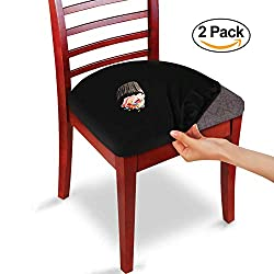 Hoovy Seat Covers Pack of 2 Protective & Stretchable - for Round & Square Chairs