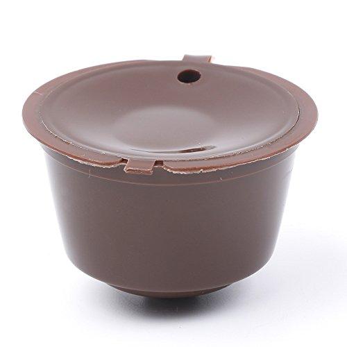 VEIREN - Juego de 10 cápsulas de café para cafeteras de café (rellenables, reutilizables), color marrón: Amazon.es: Hogar