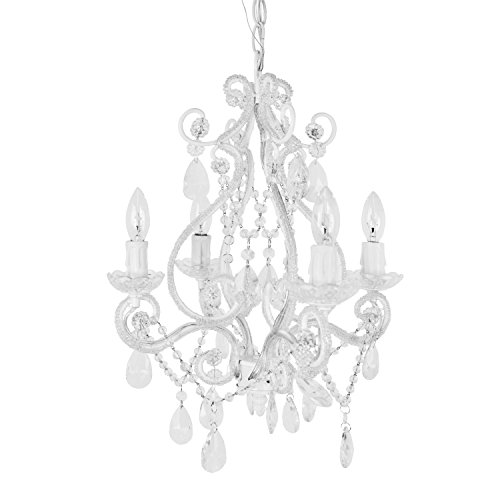 mini chandelier white - 7