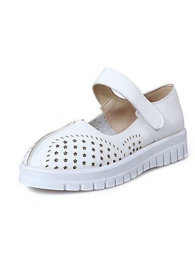 ZQ YYZ Zapatos de mujer - Tac¨®n Plano - Punta Redonda - Planos - Exterior / Vestido / Casual - Semicuero - Rosa / Rojo / Blanco , pink-us10.5 / eu42 / uk8.5 / cn43 , pink-us10.5 / eu42 / uk8.5 / cn43 white-us9.5-10 / eu41 / uk7.5-8 / cn42