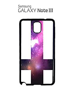 Inverted Cross Galaxy Mobile Cell Phone Case Samsung Note 3 Black