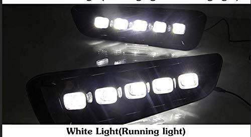 Price comparison product image yise-N041 2x LED Daytime Running Lights DRL Fog Lamps for Ford F150 Raptor 2016 2017 2018 ABS+LED IP66 12V Color Temperature 6000K-6700K