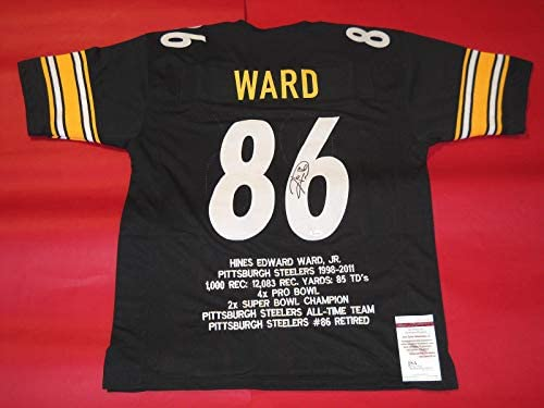 34269400968 HINES WARD AUTOGRAPHED PITTSBURGH STEELERS STAT JERSEY JSA at Amazon s  Sports Collectibles Store