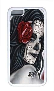 Art Girl Custom iPhone 5C Case Cover TPU White
