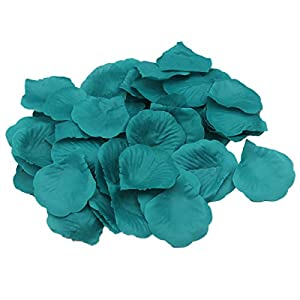 ALLHEARTDESIRES Teal Rose Flower Petals Wedding Table Confetti Bridal Shower Party Favor Decoration (1,000) 14