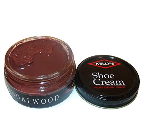 Kelly's Shoe Cream - Professional Shoe Polish - 1.5 oz - Sandalwood