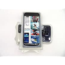DiCAPac WP-C1 Universal Waterproof Case for HTC One/Dual Sim/S/S C2/SC/ST/SV/VX/X/X+/XC/XL in White (Double Velcro Locking System; IPX8 Certified Underwater Protection; Super Clear Photo Lens)