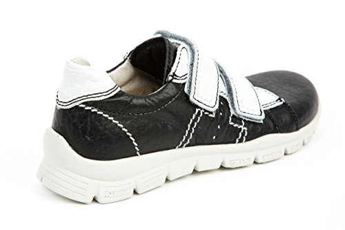 Däumling Kinderschuhe Jungen Sneaker Klettverschluss Schwarz - Weiß Gr. 31