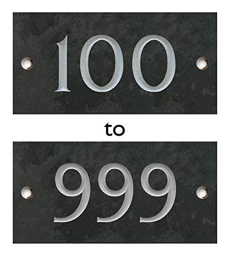 Nombre Gravé Slate House - 3 chiffres (100-999) Atlantic Hardware