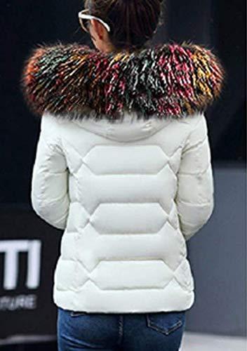 Piel Chaqueta Pluma Slim Imitación Especial Fit De Blanco De Mujer Larga Fashion con Caliente Manga Estilo Acolchada Chaqueta Invierno Espesar Plumas Capucha Elegantes twHv1qXw