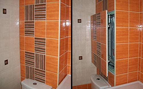 Tapa para Revisi/ón 600 mm x 300 para Baldosas,acero,Revisi/ón Mantenimiento Puerta Panel de acceso Trampilla de Registro Puerta de Inspecci/ón