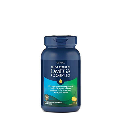 GNC Triple Strength Omega Complex, Lemon, 90 ()