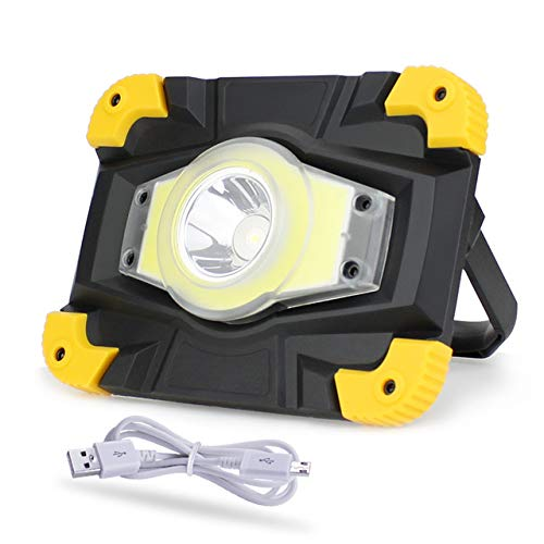 Proyector portátil LED Luz de trabajo LED recargable 20W Cob ...