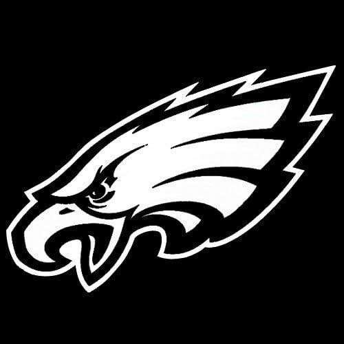 Philadelphia Eagles 8x8 White Team Logo Decal